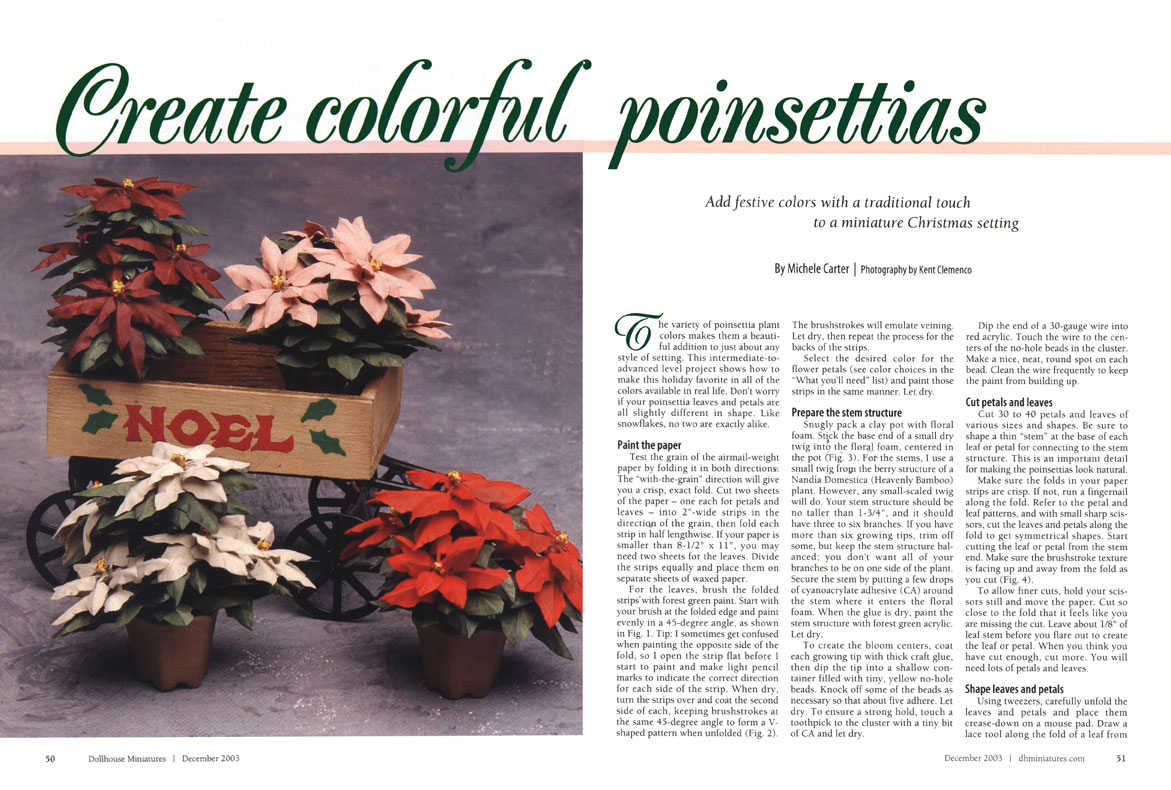 Create Colorful Poinsettias