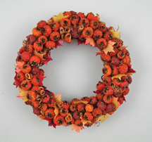 Autumn fruit and berry wreath