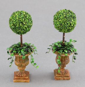 Pair of ball topiaries