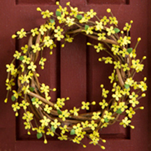 Forsythia branch wreath