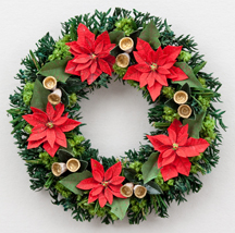 Large Poinsettia wreath